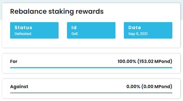 Rebalance staking rewards